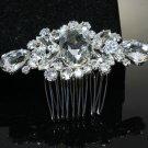 Vintage Style Wedding Bridal Rhombus Large Rhinestone Crystal Hair Comb -CA