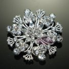 LOT OF 4 RHINESTONE CRYSTAL WEDDING CAKE BRIDAL SNOW SNOWFLAKE FLOWER BROOCH PIN