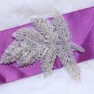 Lot Of 4 Leaves Leaf Hair Head Acrylic Beaded Wedding Sash Craft Applique DIY