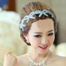 Bow Butterfly Rhinestone beads Bridal Wedding Evening Headband Ribbon Hair Band