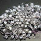VINTAGE STYLE CRAFT BRIDAL WEDDING RHINESTONE CRYSTAL SASH BOUQUET BROOCH PIN