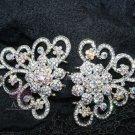 Aurora Bioreals Wedding Bridal Rhinestone Crystal Closure Hook and Eye Clasp