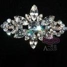 Marquise Clear Rhinestone Crystal Rhombus Wedding Bridal Jewerly Brooch Pin