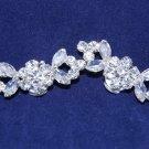 A Pair Of Mini Rhinestone Crystal Wedding Bridal Shoe Clips -CA
