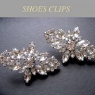 LOT OF 4 PAIRS RHINESTONE CRYSTAL WEDDING BRIDESMAIDS RHOMBUS BUCKLE SHOES CLIPS