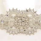 Large Vintage Wedding Bridal Rhinestone Crystal Belt Buckle Pendant/ Hook Clasp