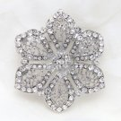Bridal Wedding Rhinestone Crystal Cake Flower Jewelry Corsage Brooch Pin