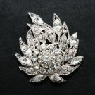 FIRE SHAPED RHINESTONE CRYSTAL BRIDAL WEDDING CORSAGE BOUQUET BROOCH PIN