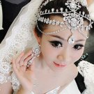 Bridal Wedding Chain Rhinestone Crystal Hair Tiara Tikka Dangle Crown Headpiece