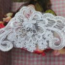 Wedding Craft White Embroidery Flower Applique Venice French Lace 1 Yard Trim