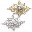 Gold/Silver Tone Rhinestone Crystal Wedding Rhombus Belt Dress Cake Brooch Pin