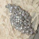 Vintage Style Spiral Silver Tone Rhinestone Crystal Wedding Bridal Brooch Pin