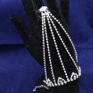 Elegant Sparkling Rhinestone Crystal Wedding Bridal Slave Bracelet Pair