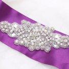 Small Beaded Rhinestone Crystal Faux Pearl Wedding Bridal Garter Craft Applique