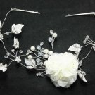 Wedding Bridal Rhinestone Crystal Leaf Vines Crown Tiara Flower Clips
