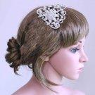 BRIDAL WEDDING BRIDES SILVER RHINESTONE CRYSTAL HEADPIECE HAIR COMB