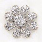 Rhinestone Crystal Bridal Wedding Flower Bouquet Cake Round Brooch Pin