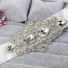 "2"" White Satin Ribbon Crystal Rhinestone Wedding Bridal Sash Belt 3 Yards"