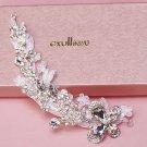 Bridal Wedding Lace Butterfly Rhinestone Crystal Hair Princess Tiara Headpiece