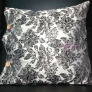 Black Flowers Leaves High Quality Embroidery Cushion Pillow Case Covers 2 Pieces
