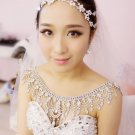 Bridal Wedding Necklace Jewelry Crystal Rhinestone Halter Shoulder Strap -CA