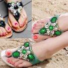 A Pair Of Shells Beach Beads DIY Sandals Shoes Applique With Melt Glue