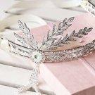 Vintage Style Crown Rhinestone Wedding Pearl Great Gatsby Insprited Bridal Tiara