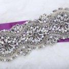 Classic Star Flower Rhinestone Crystal Beaded Faux Pearl Bridal Wedding Applique