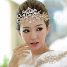 Gold Wedding Bridal Rhinestone Crystal Headpiece Hair Chain Tiara Crown