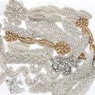 Mixture Of Bridal Wedding Rhinestone Crystal Beaded Sew Iron on Appliques