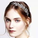 Leaf Feathe Vintage Style Wedding Crystal Hair Headband Headpiece Accessories