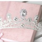Wedding Bridal Rhinestone Crystal Princess Tiara Headpiece Forehead Crown -CA