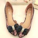 Fashion Black Grosgrain Rhinestone Bow High Heel Shoe Clips Pair