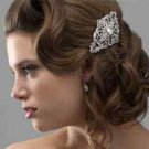 Wedding Bridal Vintage Style Rhinestone Crystal Hair Alligator Clip -CA