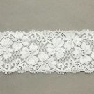 WEDDING CRAFT EMBROIDERY FLOWER PATTERN WHITE LACE TRIM 1 YARD