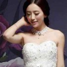 HANDCRAFT LACE APPLIQUE IVORY WEDDING BRIDAL GOTH EVENING NECKLACE CHAIN