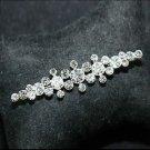 Bridal Wedding Men Groom Rhinestone Crystal Corsage Brooch Pin