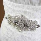 LOT OF 4 BRIDESMAID CRYSTAL RHINESTONE WEDDING RIBBON APPLIQUE SASH BELT -CA
