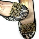 Elegant Vintage Gold Copper Vintage Style Taotoo Victorian Shoe Clips -CA