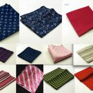 SOLID PLAIN STRIPED PATTERN COLOR WEDDING SUIT POCKET TOWEL HANDKERCHIEF