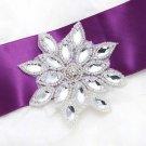 Beaded Sew Iron Wedding Bridal Snowflake Flower Motif Applique Craft DIY