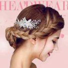 Silver Flower Bridal Wedding Rhinestone Crystal Hair Comb Headpiece Accessories
