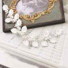 Wedding Bridal Silver Leaf Pearl Tiara Headpiece Hair Accessories