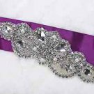 Lot Of 3 Vintage Style Wedding Beaded Rhinestone Crystal Faux Pearl Applique