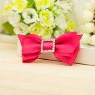 Azalea Ribbon Rhinestone Crystal Sqaure Bow Wedding Shoe Charm Clips Pair