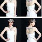 Crystal Rhinestone Wedding Bridal Shoulder V Shape Halter Chain Halter Necklace