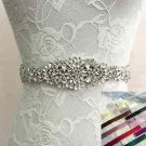 Bridal Wedding Applique Rhinestone Crystal Sash Color Ribbon Belt