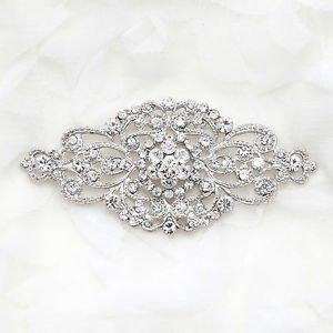 LOT OF 10 WEDDING BRIDAL RHINESTONE DRESS SASH BUCKLE VINTAGE RHOMBUS BROOCH PIN