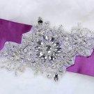 Wedding Bridal Snowflake Flower Belt Sash DIY Beaded Applique Patch