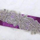 Beaded Rhinestone Crystal Wedding Bridal Craft DIY Patch Iron Sew Applique